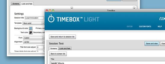 Timebox™ screenshots