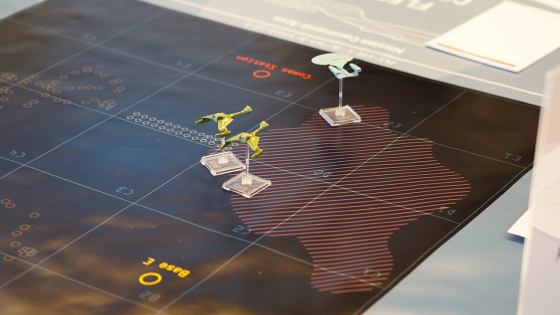 Spaceship models used for tactical mapping
