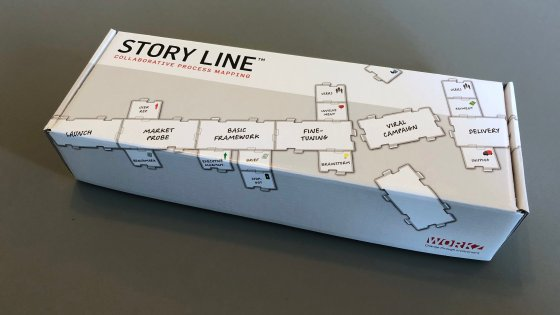 Store Line™ comes in a handy box with enough material for 3-6 people to map a fairly complex process.